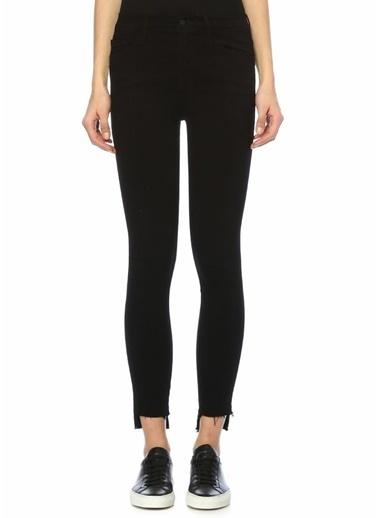 Frame Denim Normal Bel Skinny Jean Pantolon Siyah